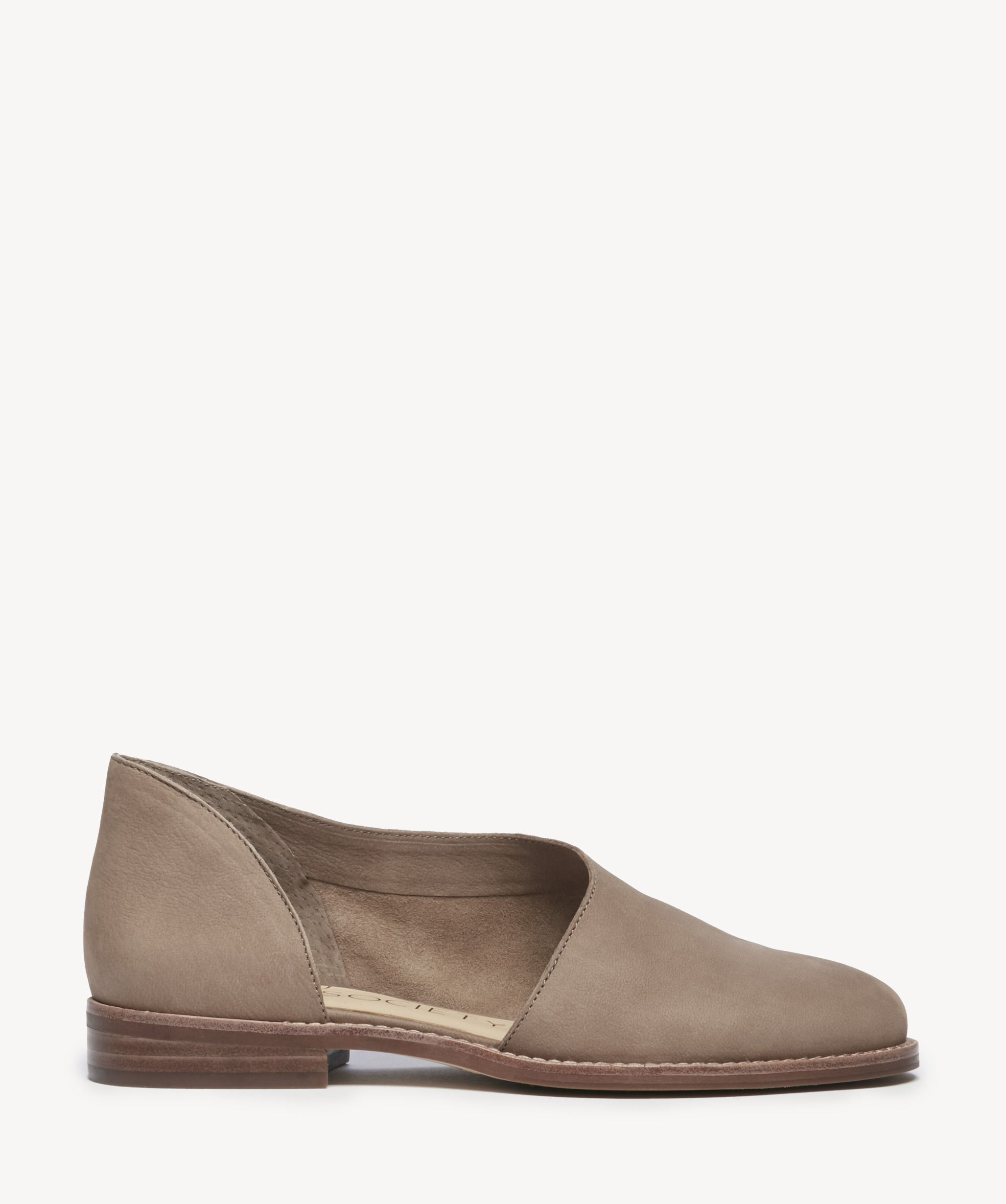 845218e60e5 Women's Betianne Asymmetrical Flats Taupe | Size 6.5 Leather From Sole  Society