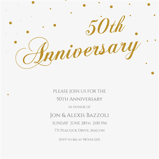 Dots Detail Free Printable Anniversary Invitation Template