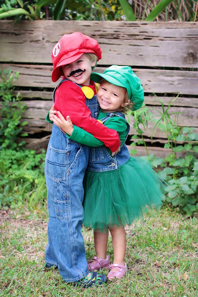 Mario and Luigi costumes  sc 1 st  Pinterest & The Super Mario Siblings. Mario and Luigi costumes   Stuff Iu0027ve Done ...