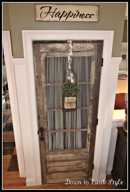 Old Door For Kitchen Pantry Love This Idea Home Wood Doors Interior Old Door