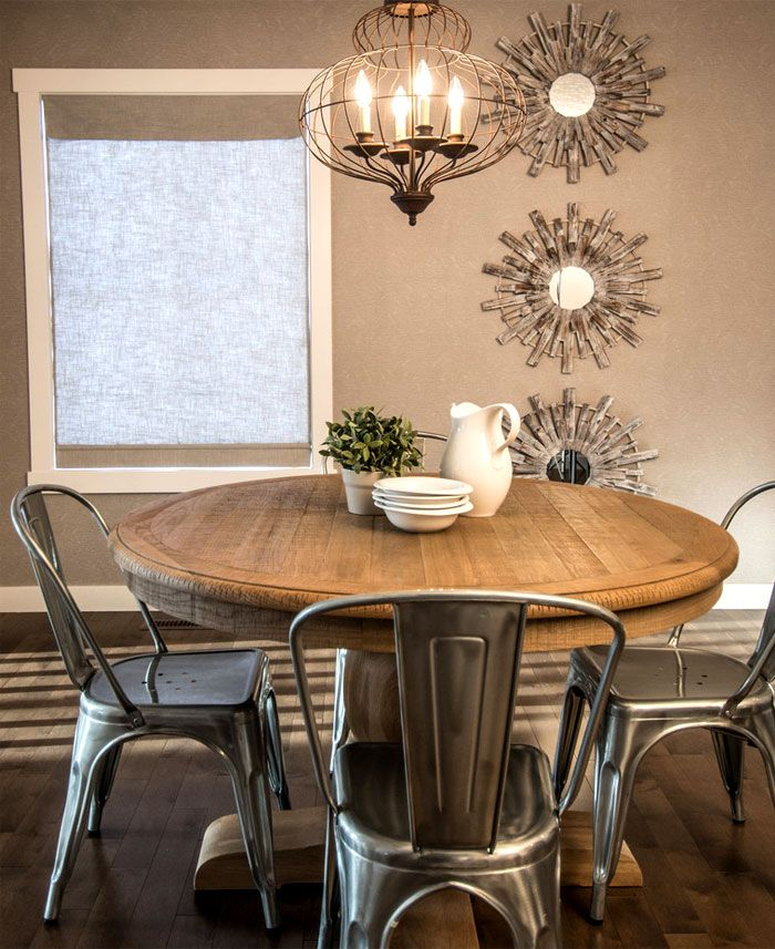 Round Kitchen Table Sets For 6 Tables And Chairs 2018 With: 55 Dining Room Wall Decor Ideas For Season 2018