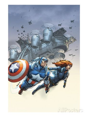 Marvel Team Up No 6 Cover Black Widow And Captain America