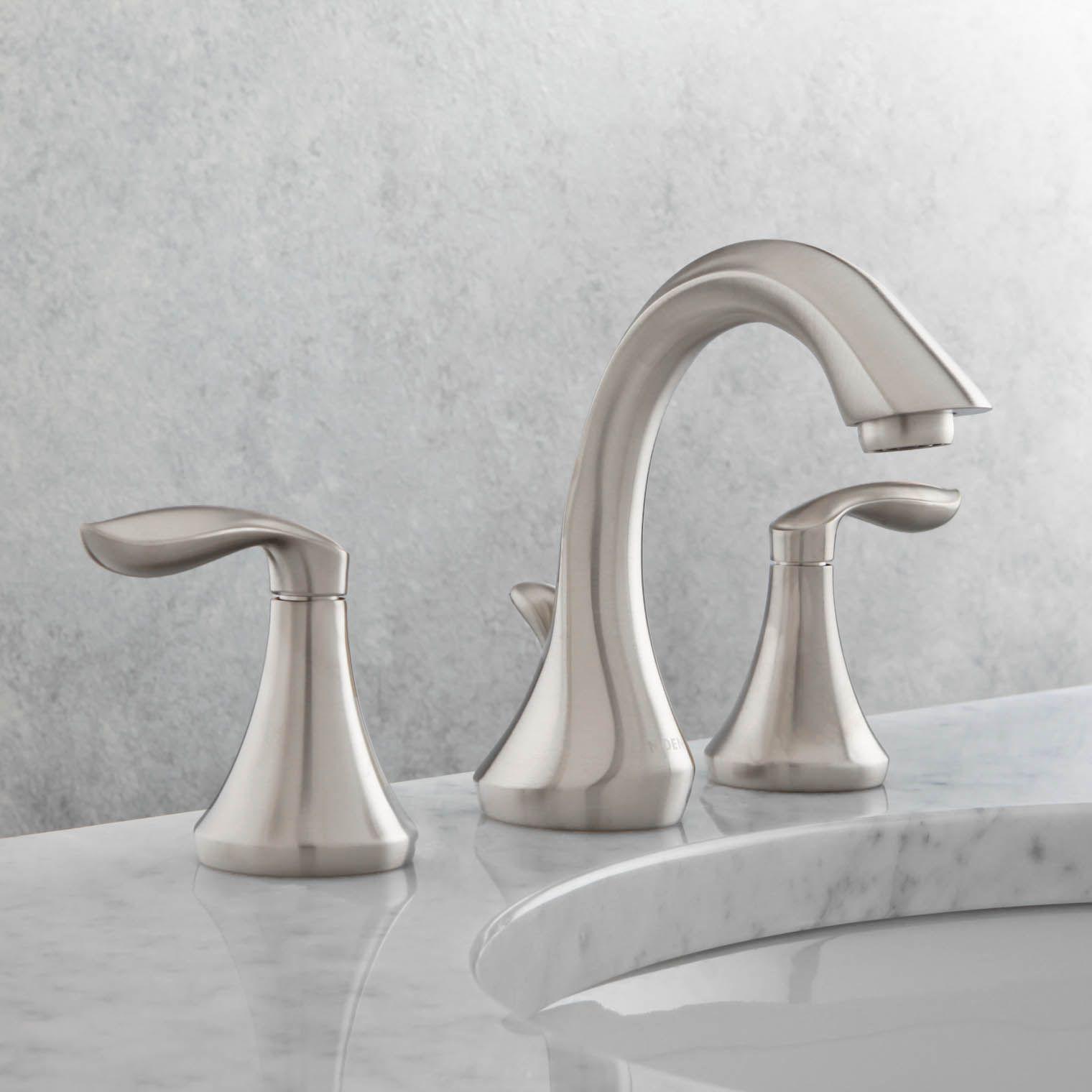Moen T6420BN Eva Two Handle Widespread Bathroom Faucet ...