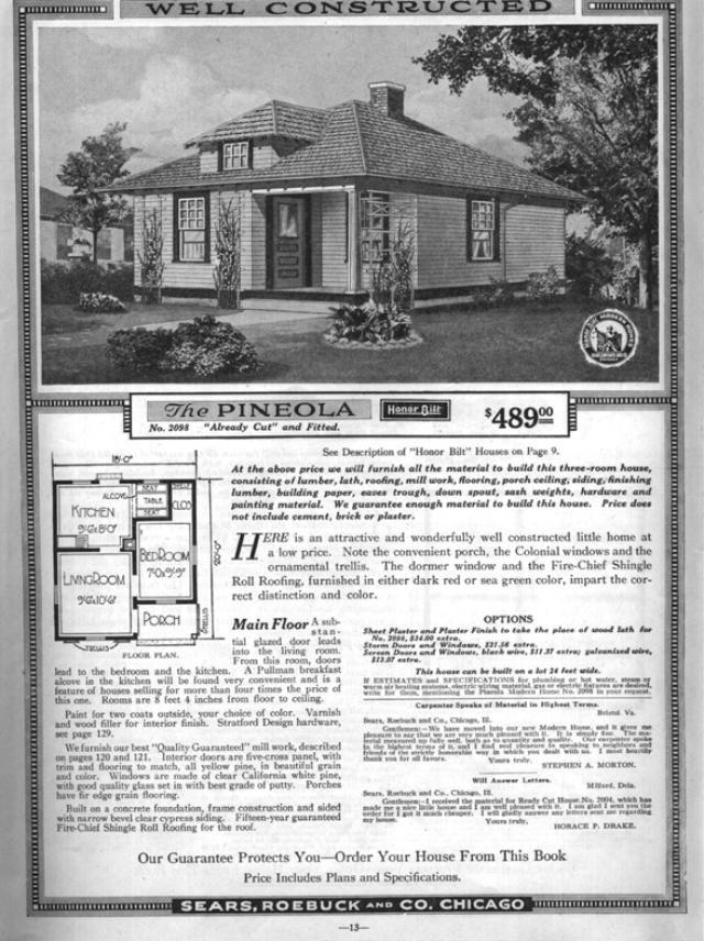 sears pineola 19182098 19192098 vintage house plansvintage - 1919 House Plans