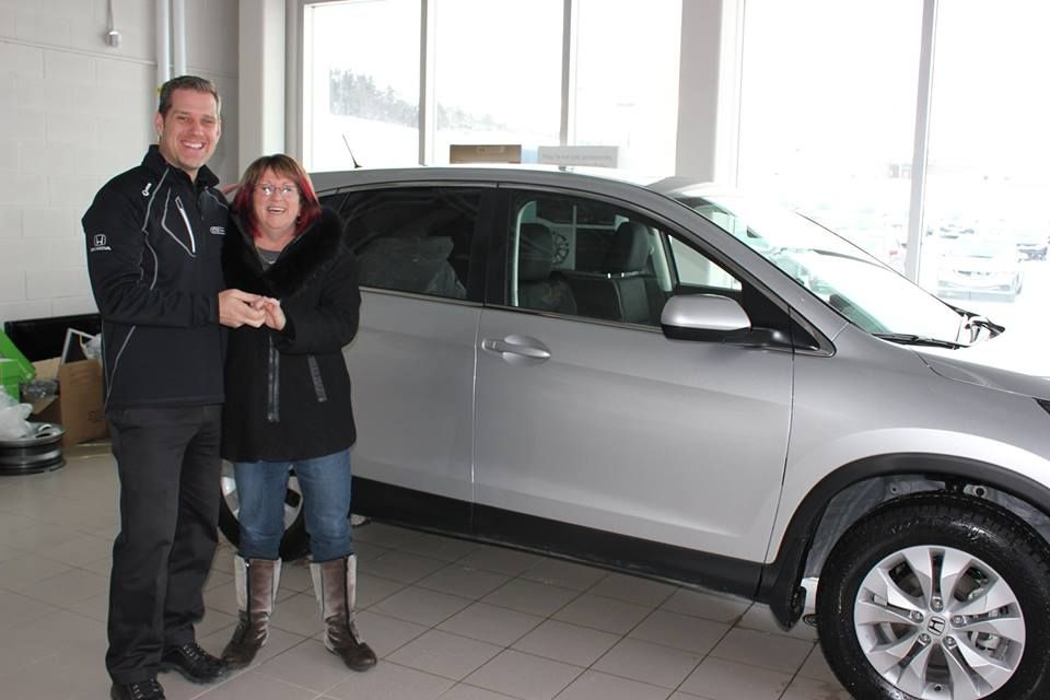 Congratulations to Barbara Reynolds! Her first taste of the Honda CR-V was so good that she went back for more! With help from Steve Burry, she left the City Honda lot with a brand new 2014 Honda CR-V EX! #happycustomers