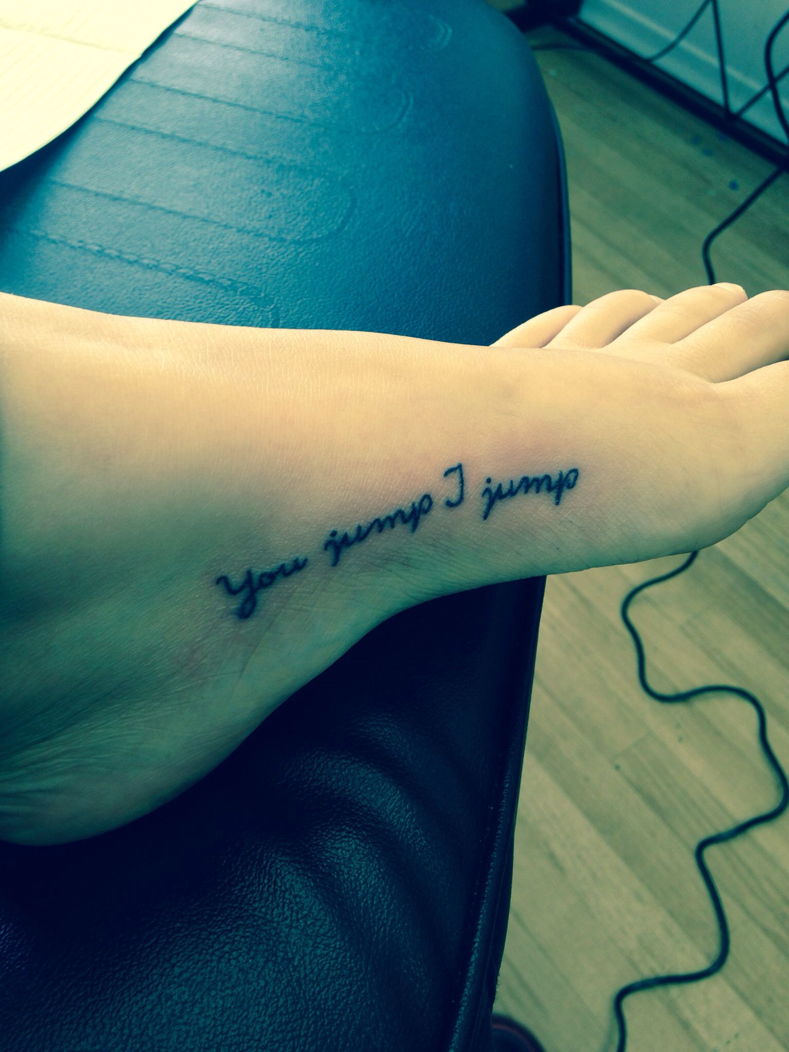 You Jump I Jump Tattoo Glad I got it, | Tattoos | Tattoos, Tattoo