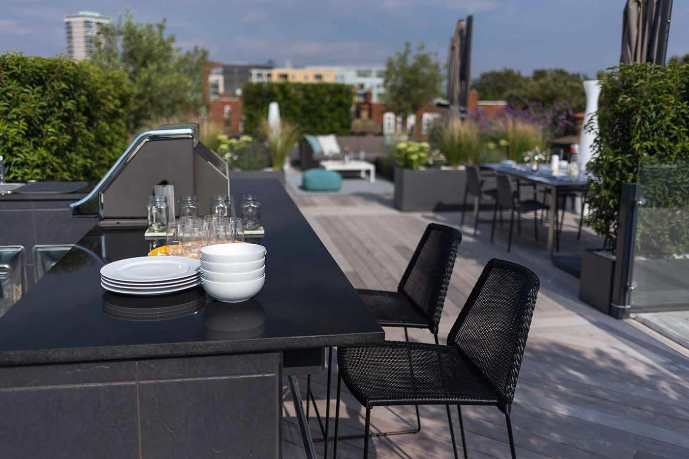 Eigentijds luxe en onderhoudsvriendelijk dakterras garden ideas