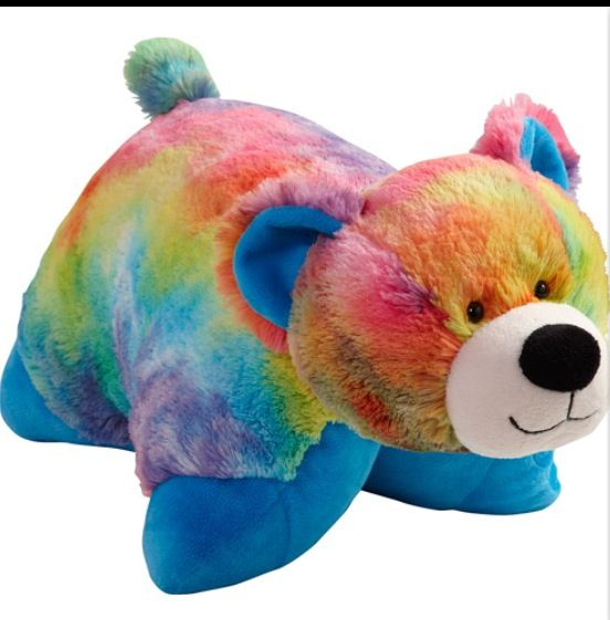 Rainbow Bear Pillow Pet Bear Stuffed Animal Animal Pillows Bear Pillow
