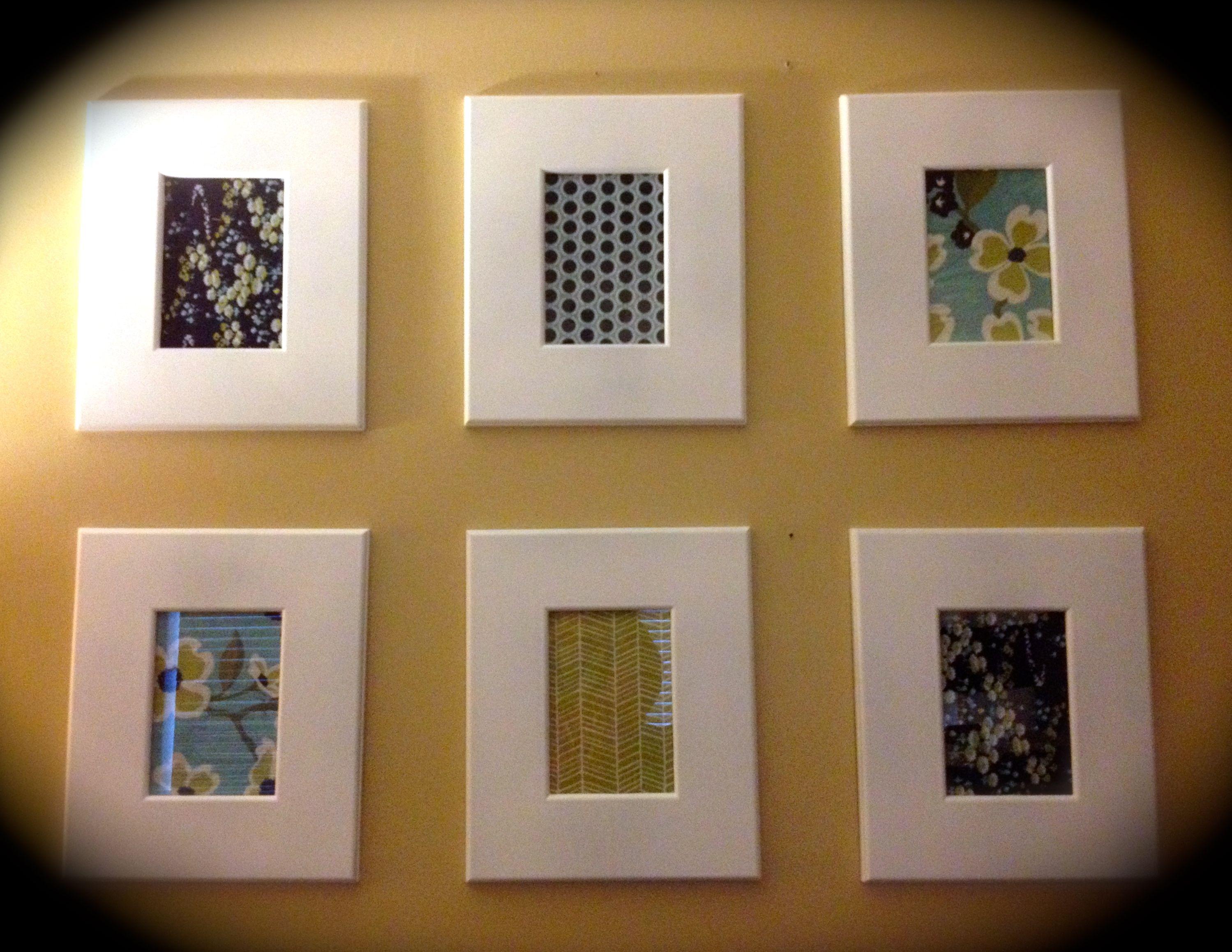 diy framed fabric inexpensive wall art