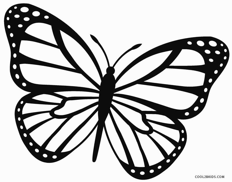 Monarch Butterfly Coloring Page Coloring pages Pinterest