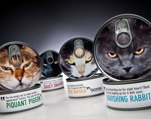 I love this cat food packaging from Eric Hart
