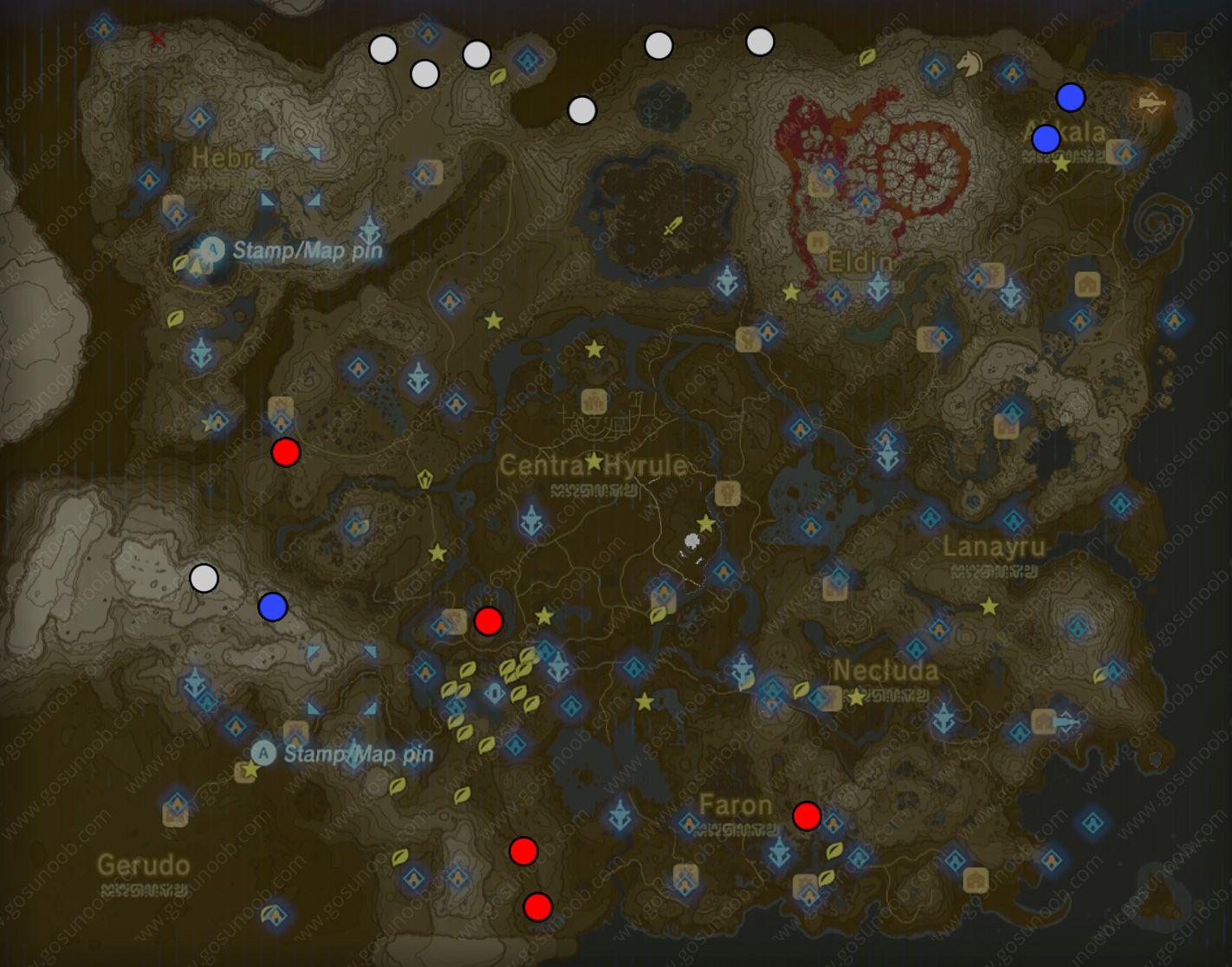photograph about Printable Korok Seed Map called Zelda botw Lynel farming places map zelda Zelda