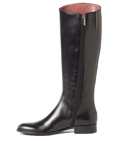 SIMONA - Black Tall Riding Boots