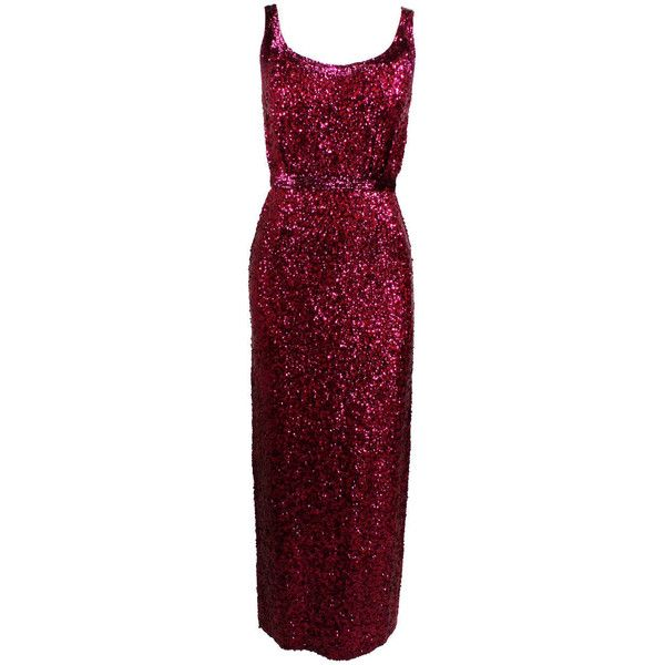 Pre-owned 1960s Pink Sequined Evening Gown (825 AUD) ❤ liked on ...
