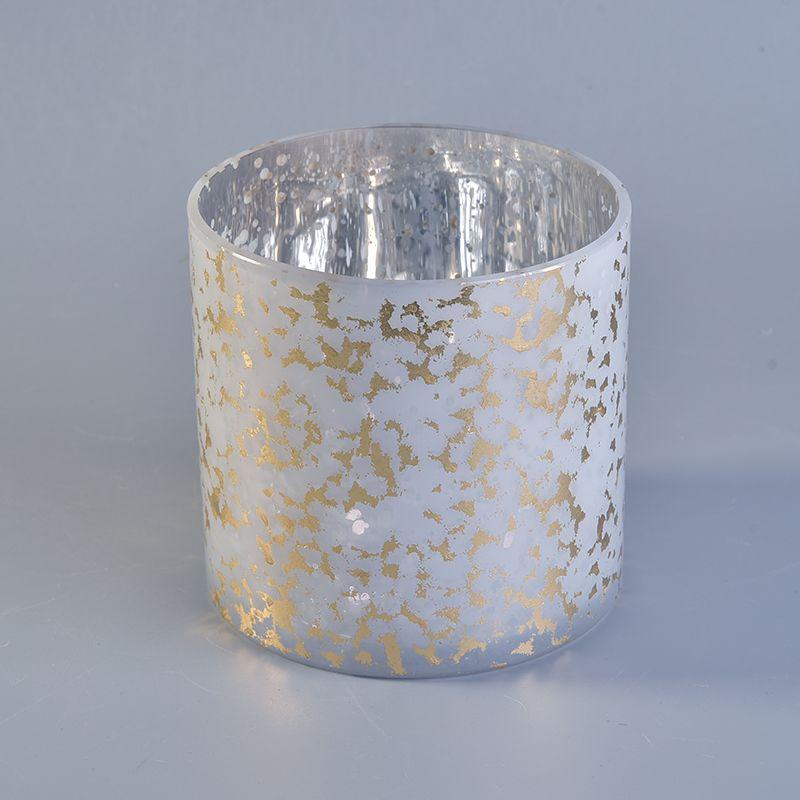foil gold glass candle jar | Sunny glassware | Candle jars wholesale