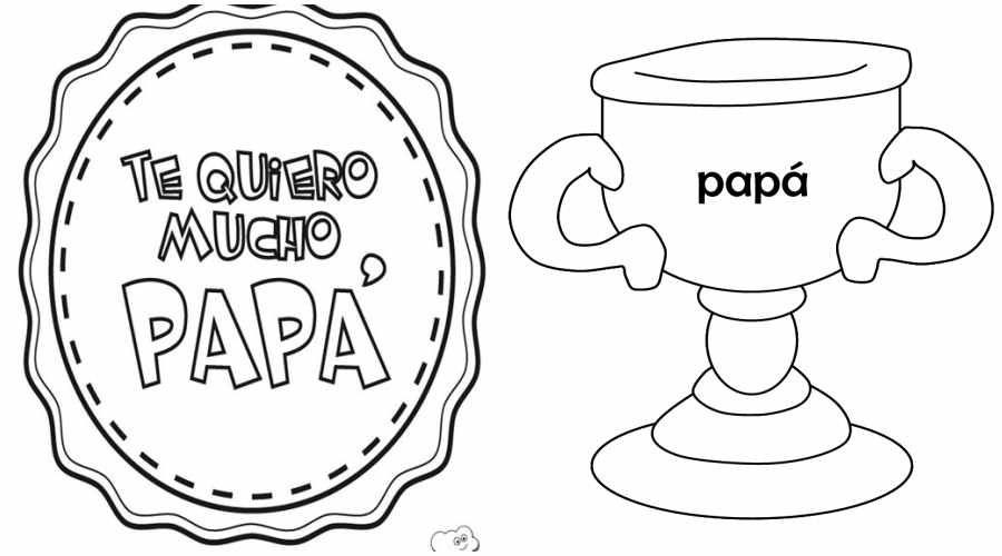 60 Imágenes del día del Padre dibujos para colorear, descargar ...