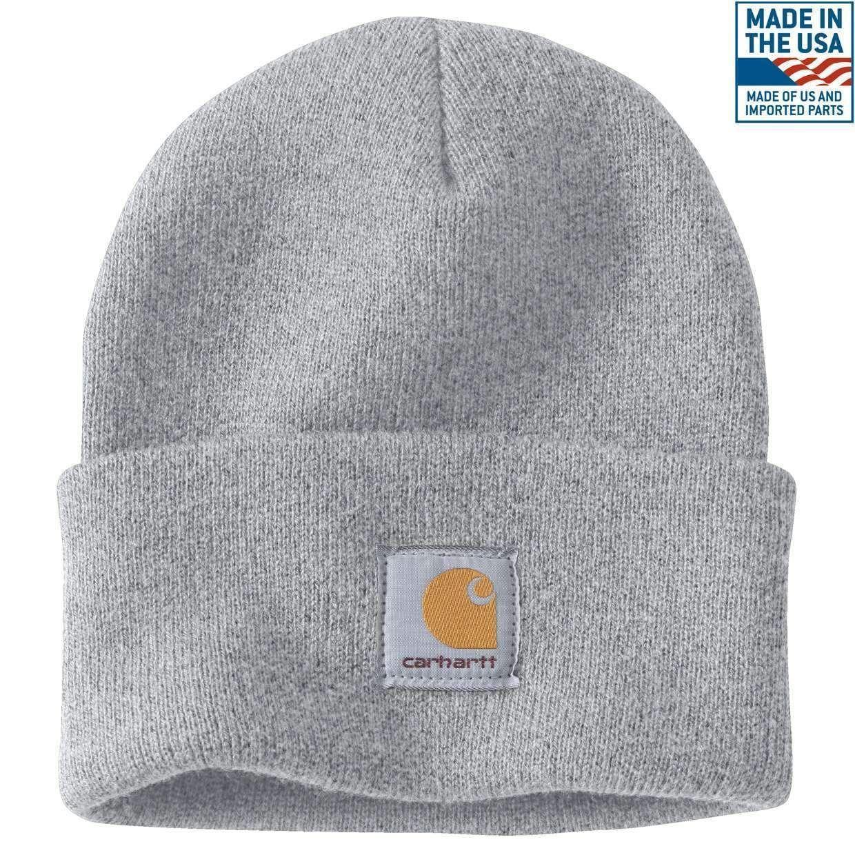 c140f41ef2ec7 Carhartt Men s Acrylic Watch Hat A18 Heather Gray