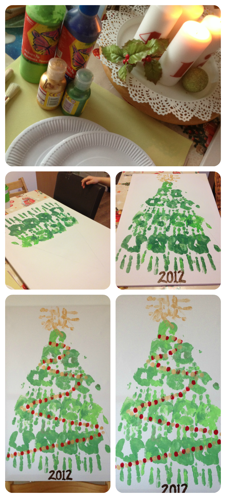 Paper christmas decorations to print - Febualous Festive Family Hand Print Christmas Tree Canvass Craft To Do With All The Family And