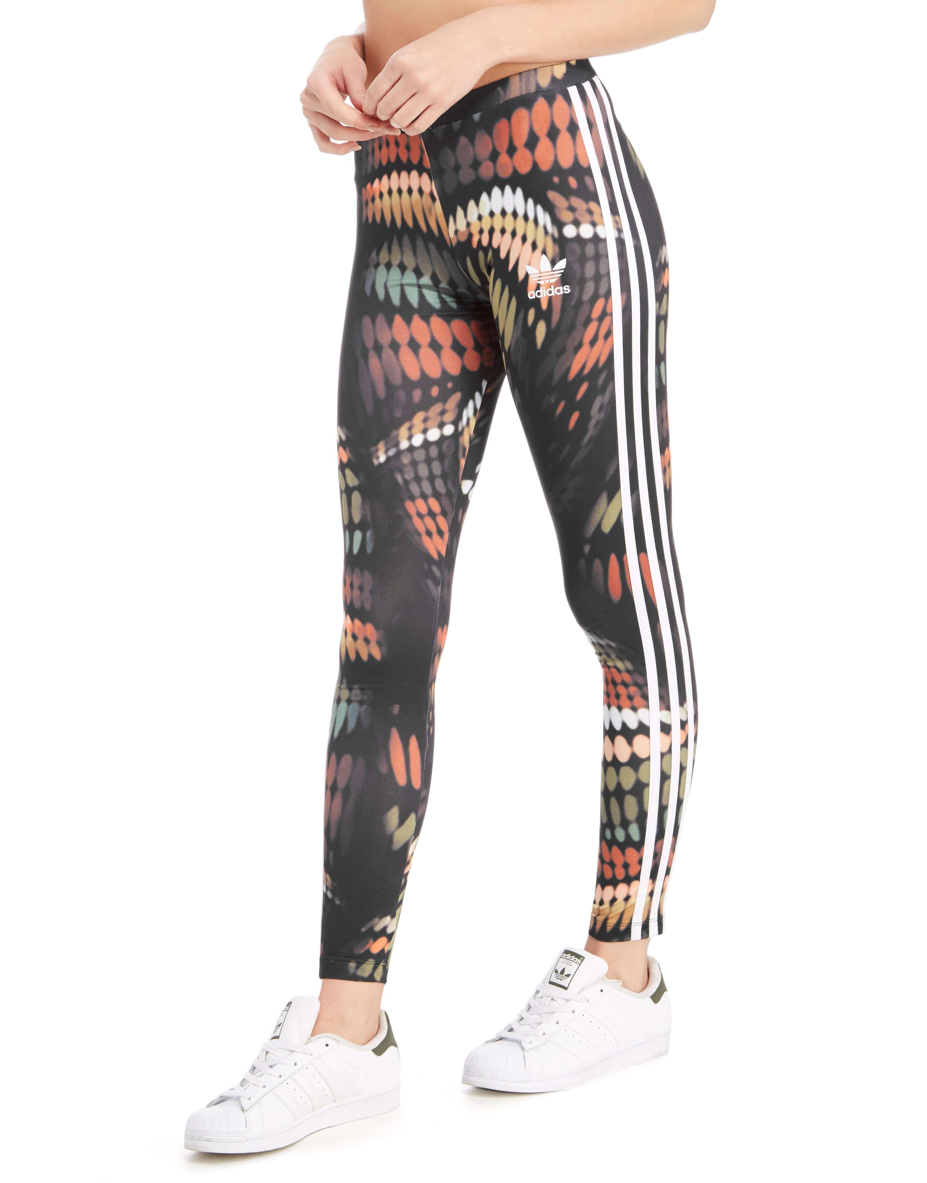 Adidas originals tights rita ora schwarz weiss rot sport
