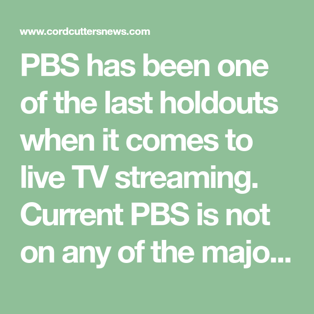 Can You Get Hallmark Channel On Hulu Pbs Is In Talks With Sling Tv Directv Now Hulu Playstation Vue More Live Tv Streaming Playstation Vue Directv