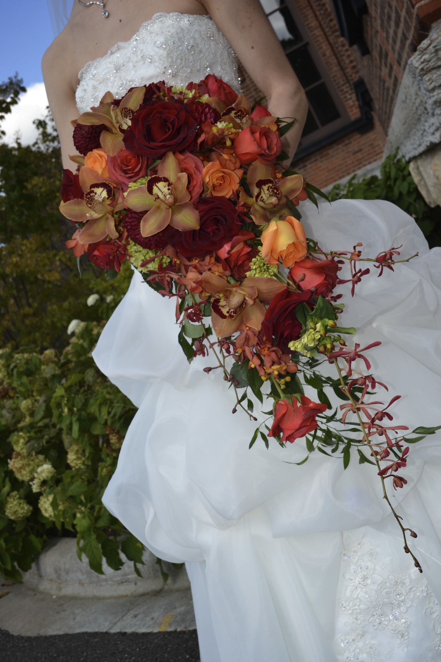 how to make a cascading wedding bouquet marah cole designs fall cascading bouquet rustic 4944