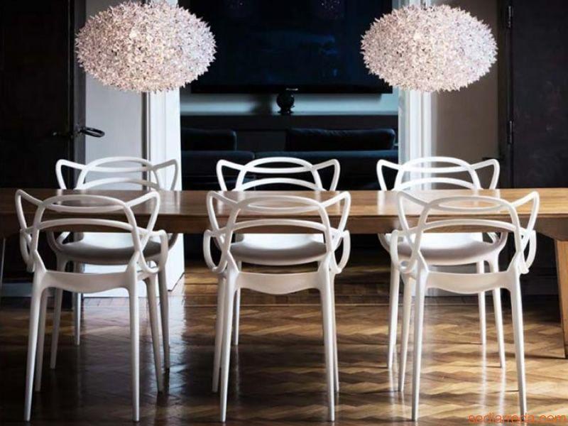 Masters   Sedia Kartell di design, polipropilene bianco   interior ...
