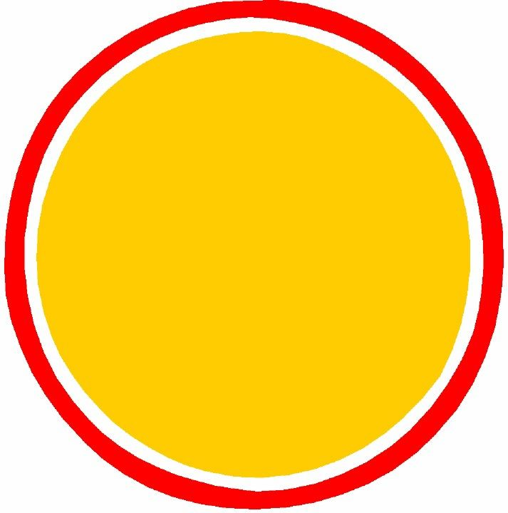 Yellow Circle With Red Outline Logo Background Circle Logos Yellow Background