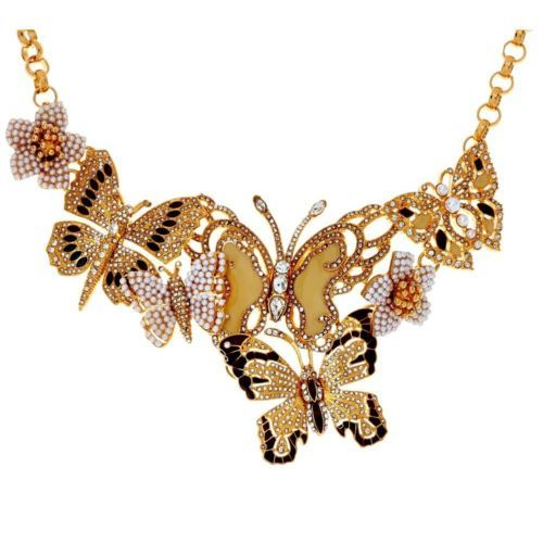 Joan Rivers Lt Ed Crystal Butterfly Neutral Statement 17 Necklace
