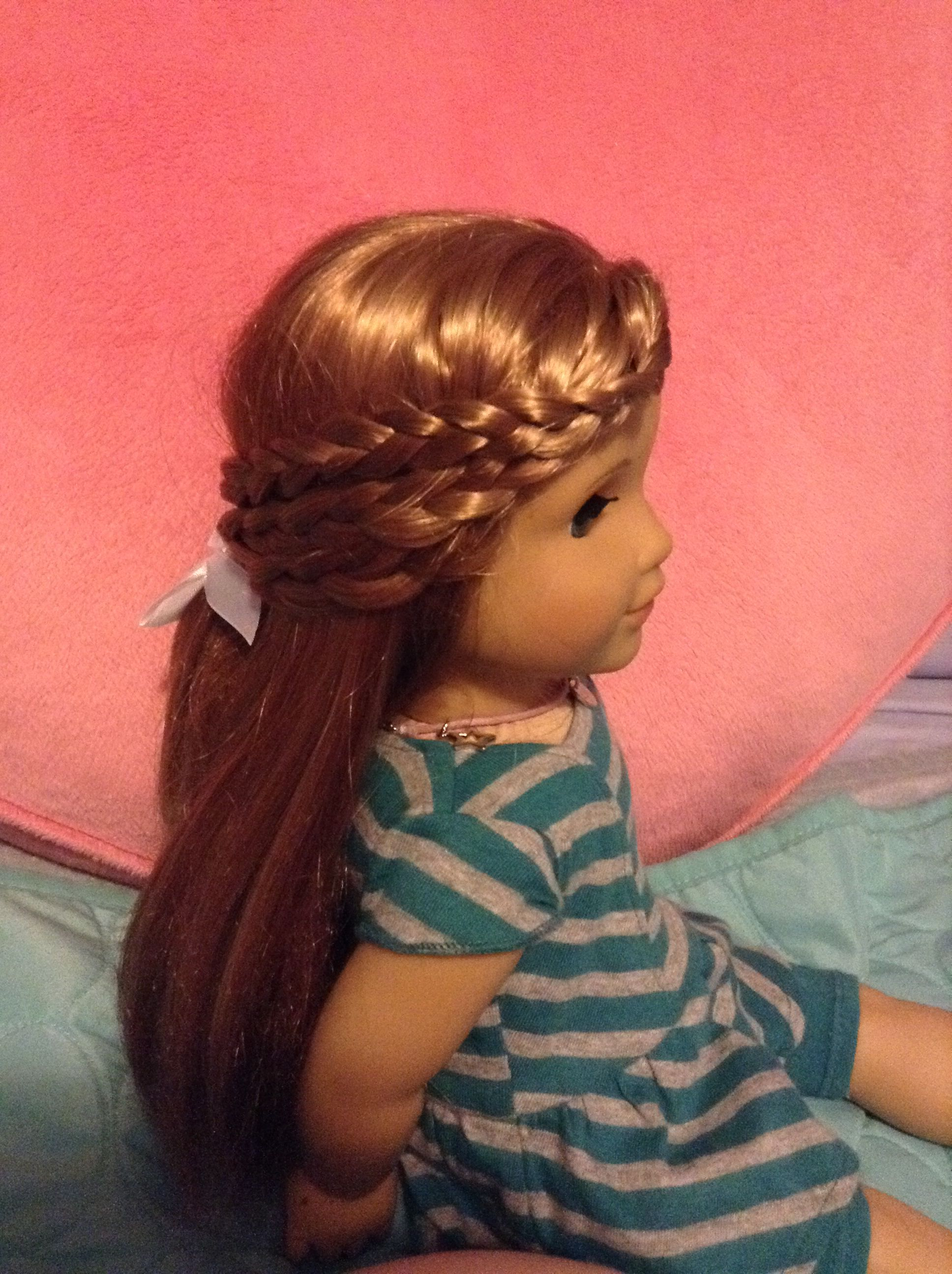 A cute and easy hairstyle for your american girl doll this is