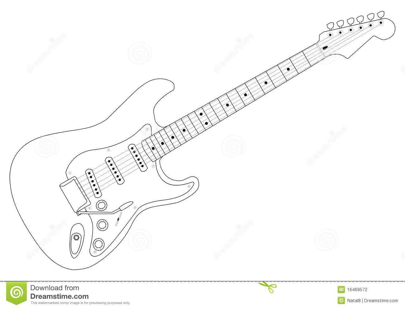 elektrische gitaar tekening zoeken elektrische