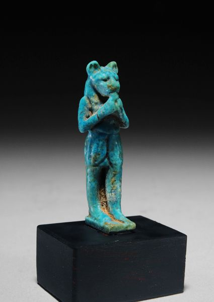Egyptian turquoise faience amulet of sekhmet decorative for Faience turquoise