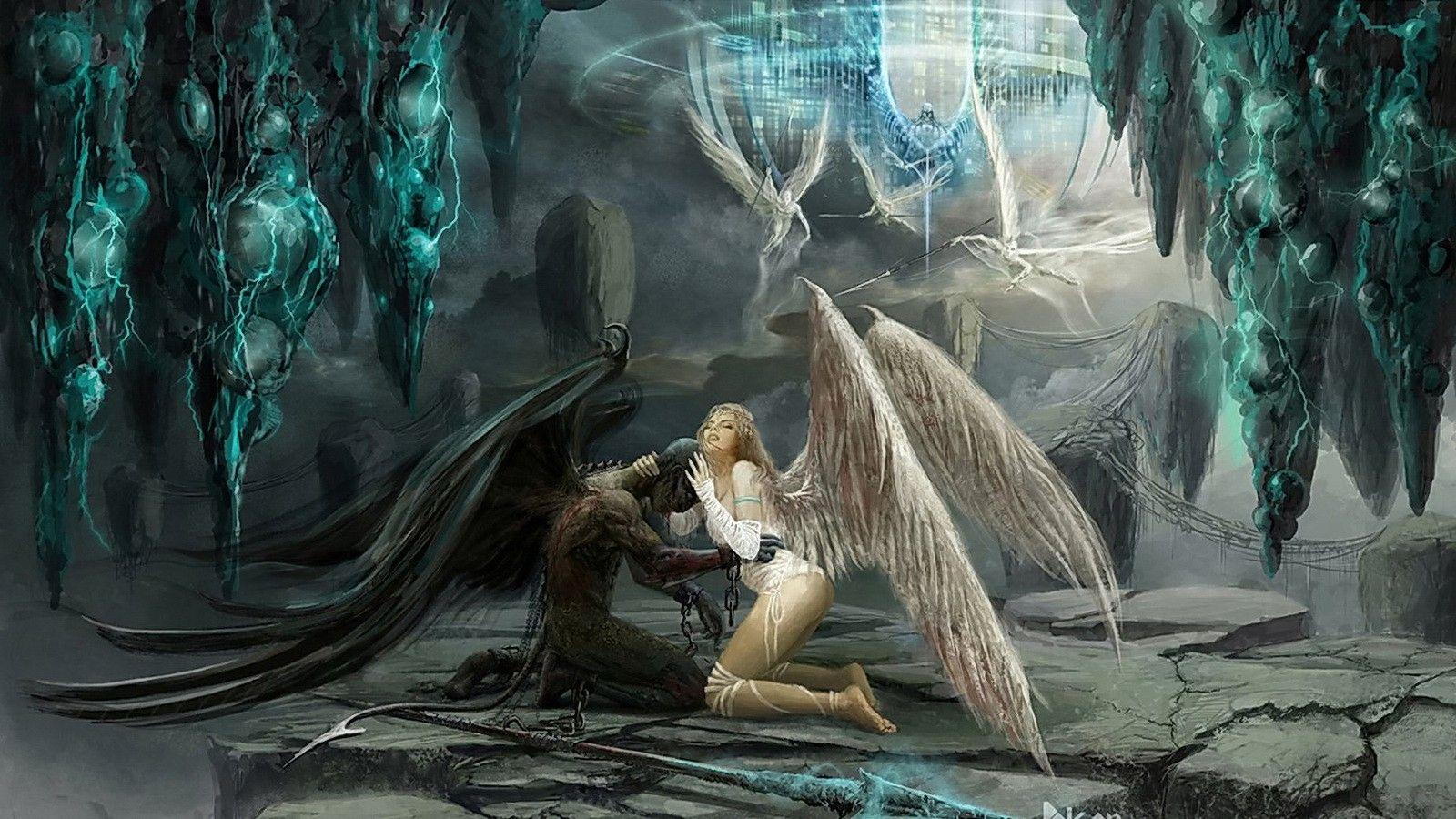 Приятной недели, картинки с демонами и ангелами любовь