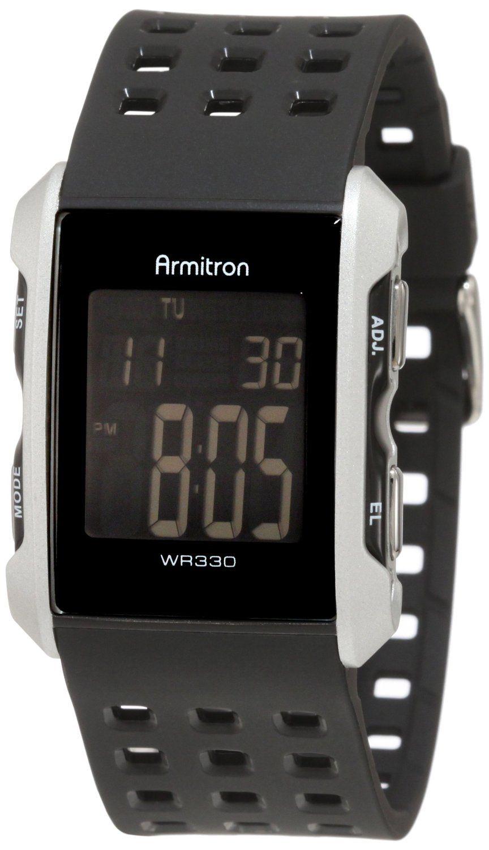 Armitron mens 408177sil silvertone and black chronograph