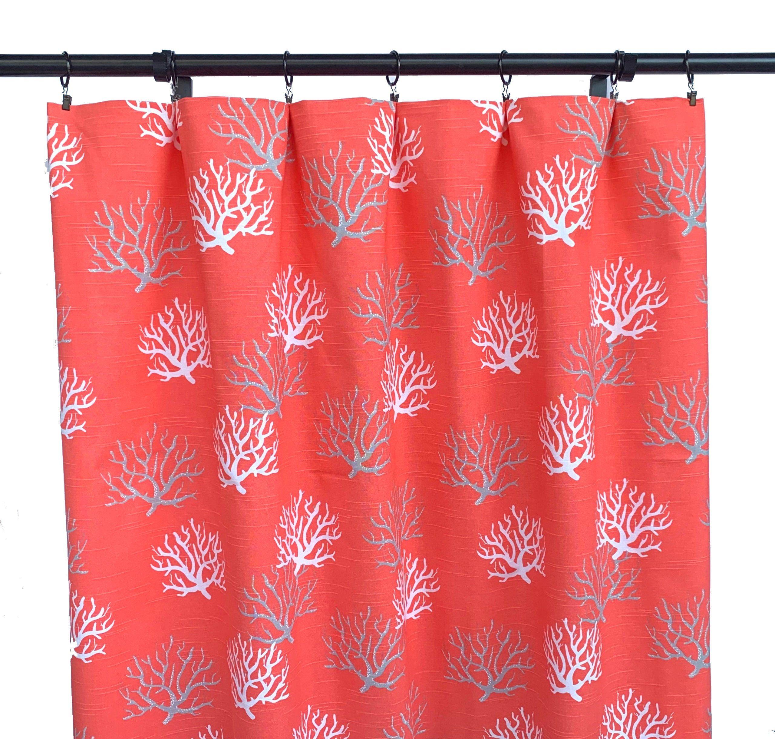 Coral Curtains Nautical Curtain 2 Curtain Panels Curtains