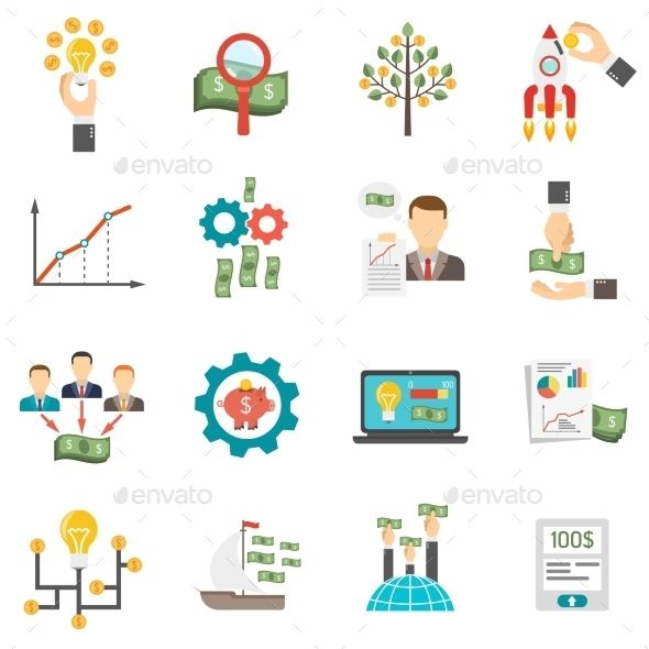 crowdfunding icons set design download http graphicriver net