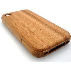 bamboo wood iphone 4/4s real wooden case, eco-friendly renewable resource (green!) Sleek design