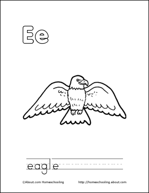 Letter E Coloring Book Free Printable Pages Places To Visit