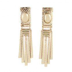 $5.02 Pair of Characteristic Solid Color Women's Tassels Drop Earrings