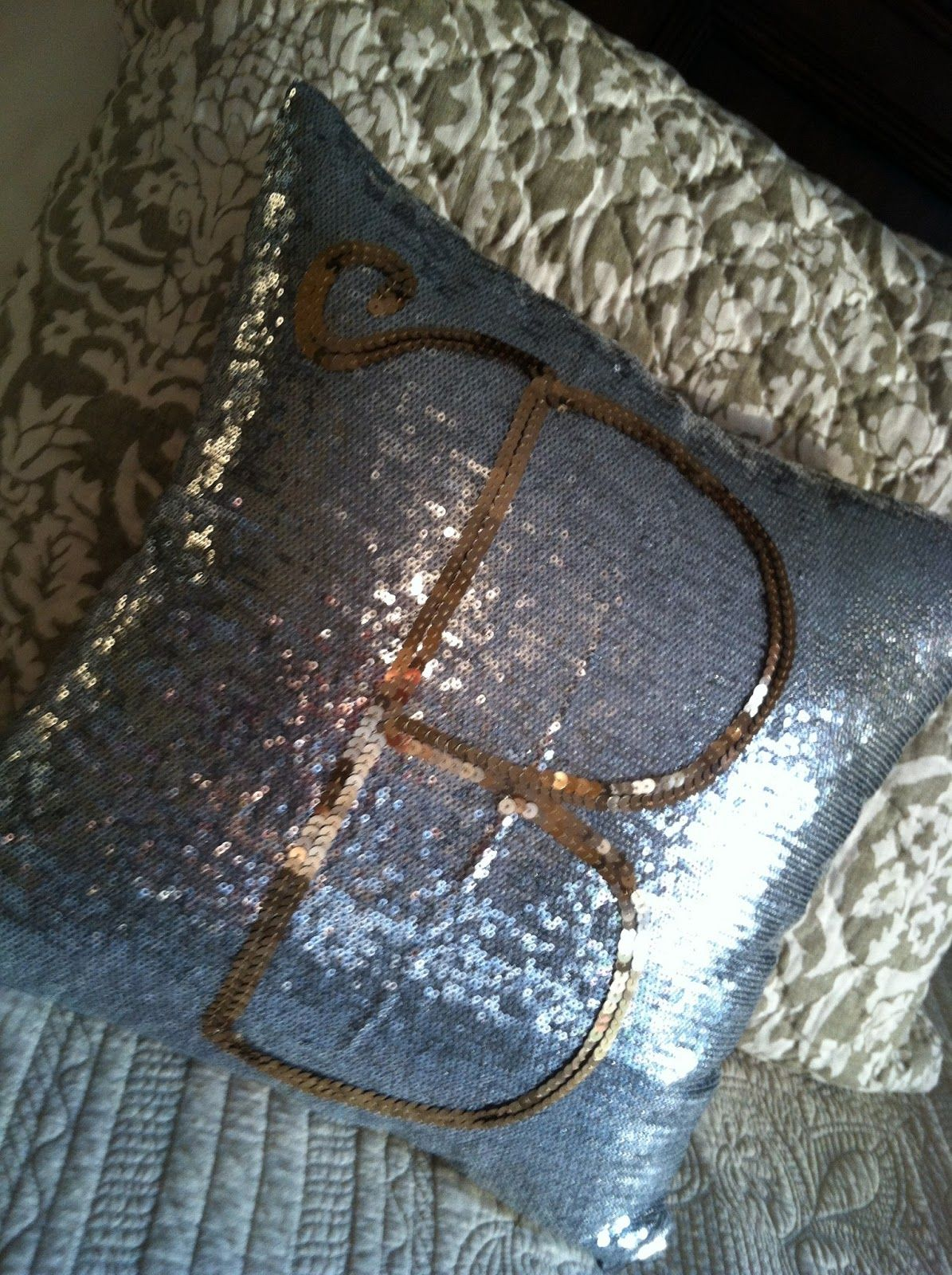 Diy Personalized Sequin Pillow