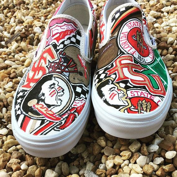 72fa40d890989 Customized FSU Florida State University college vans hand painted ...