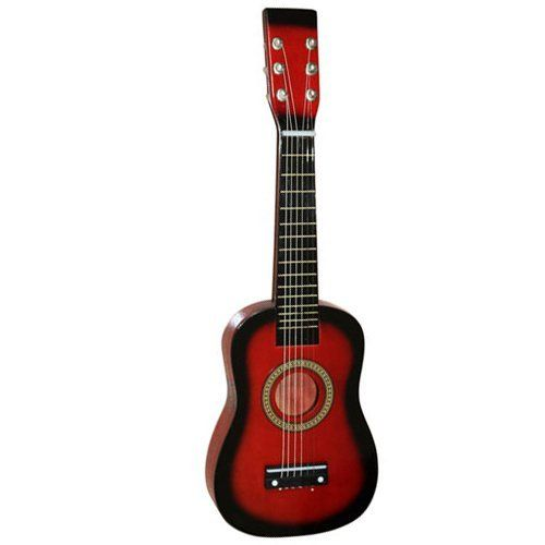 """23/"""" Children/'s Red Acoustic Guitar+pick+strings by Crazy Cart. $16.99. Features:   1. This Guitar throws in incredible value to   quickly become a guitar that grabs your attention   2. Enjoy crystal-clear   sound on the stage or in the studio with this Guitar   3. The Guitar is the   perfect solution for beginners who want to learn to play guitar   4. The Guitar   is an addicting instrument that can be taken everywhere   5. It has a silky   balance to the tone..."""