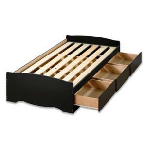 Twin Xl Platform Storage Bed 3 Drawers By Prepac Twin Storage