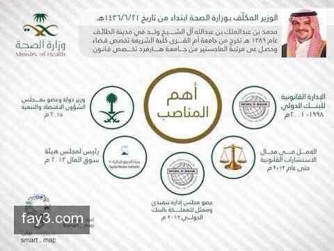 وزير الصحة السعودي الجديد محمد بن عبدالملك آل الشيخ انفوجرافيك