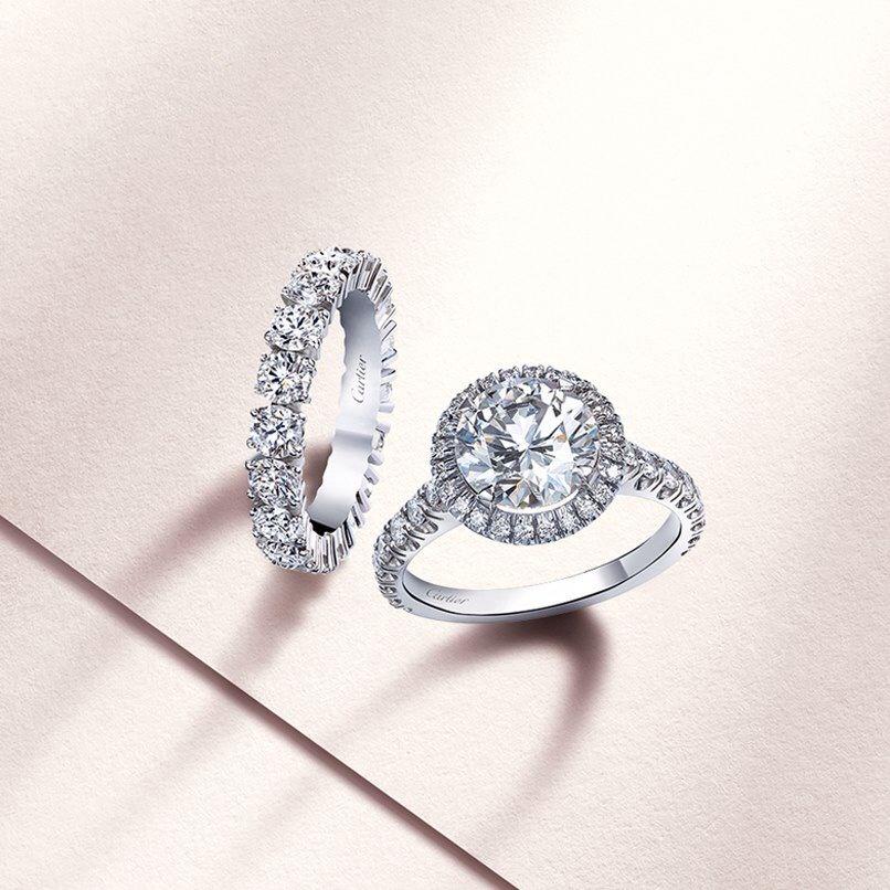 Cartier #weddingband #engagementring #classic