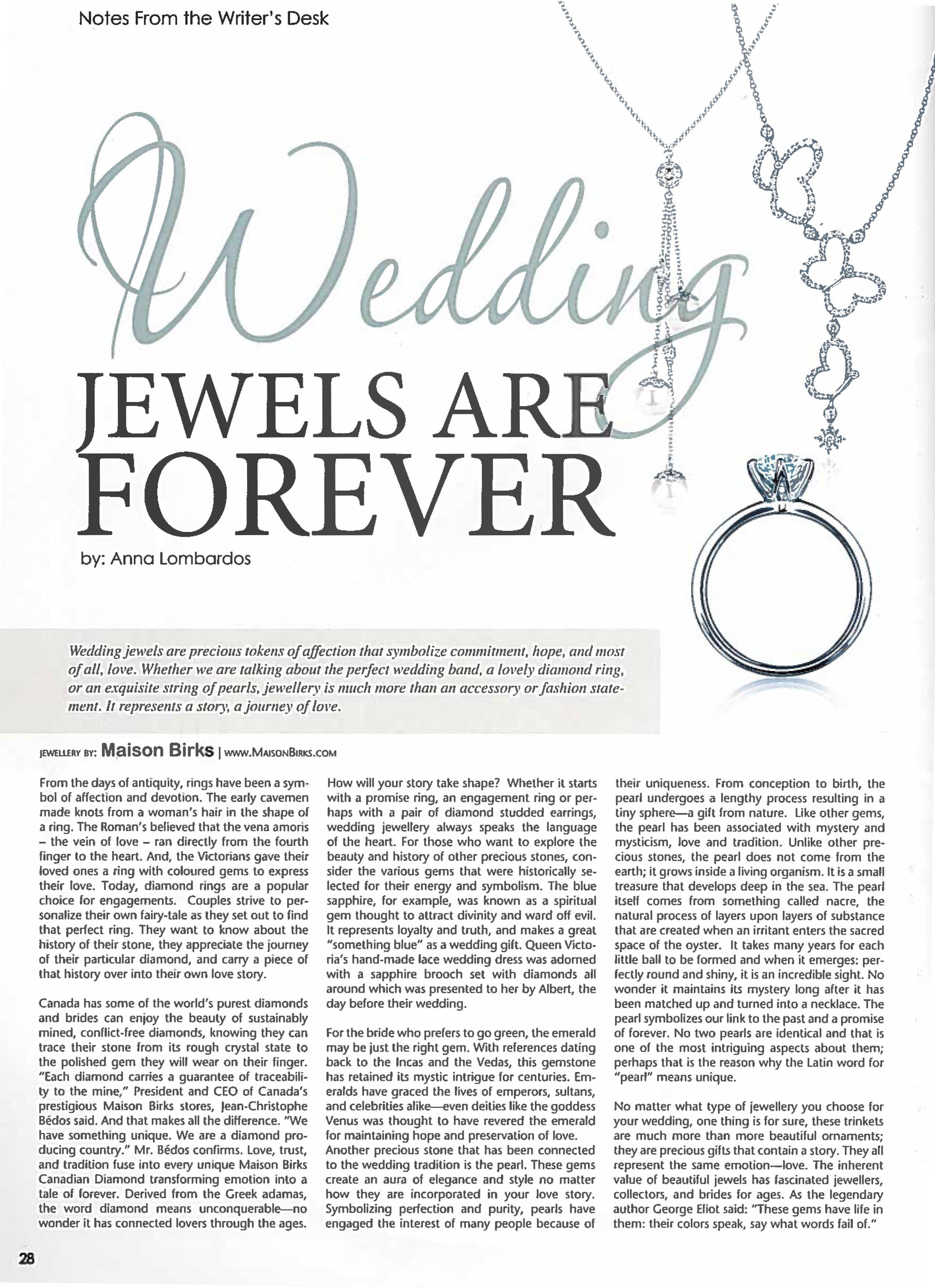 Elegant Wedding Magazine December 2013 Birks North Star Canadian