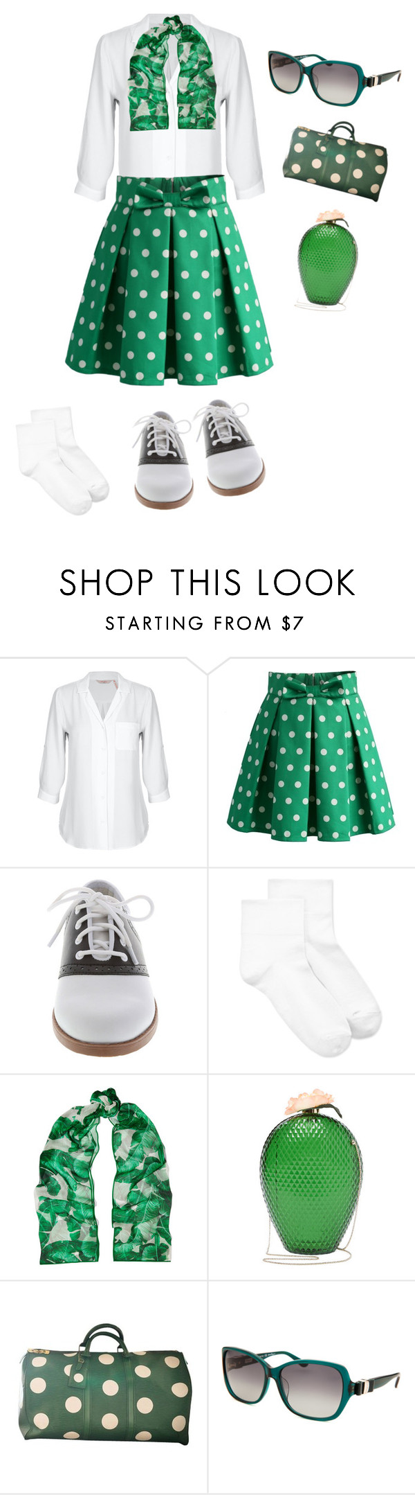 """Untitled #1593"" by sylviabunny ❤ liked on Polyvore featuring Chicwish, Hue, Dolce&Gabbana, Charlotte Olympia, Louis Vuitton and Salvatore Ferragamo"