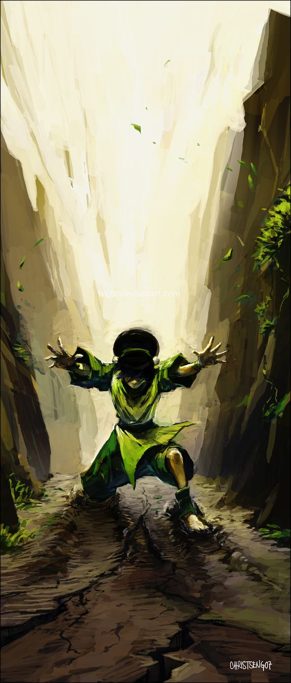Such a Badass... Easily my favorite character of ATLA (Toph by *lychi on deviantART) #avatarthelastairbender