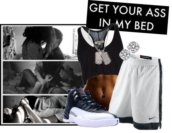 """Get Your A$$ In My Bed xXx"" by jessie-swg ❤ liked on Polyvore"