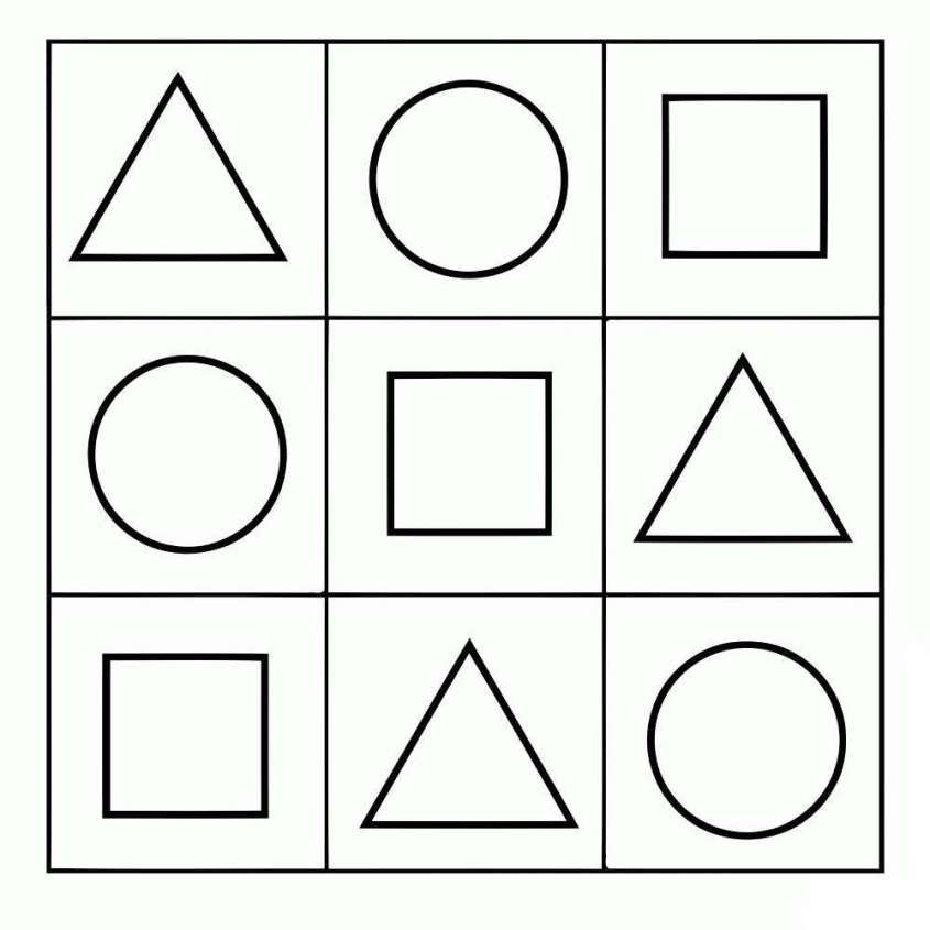 Dibujos geométricos para colorear e imprimir gratis - Formas simples ...