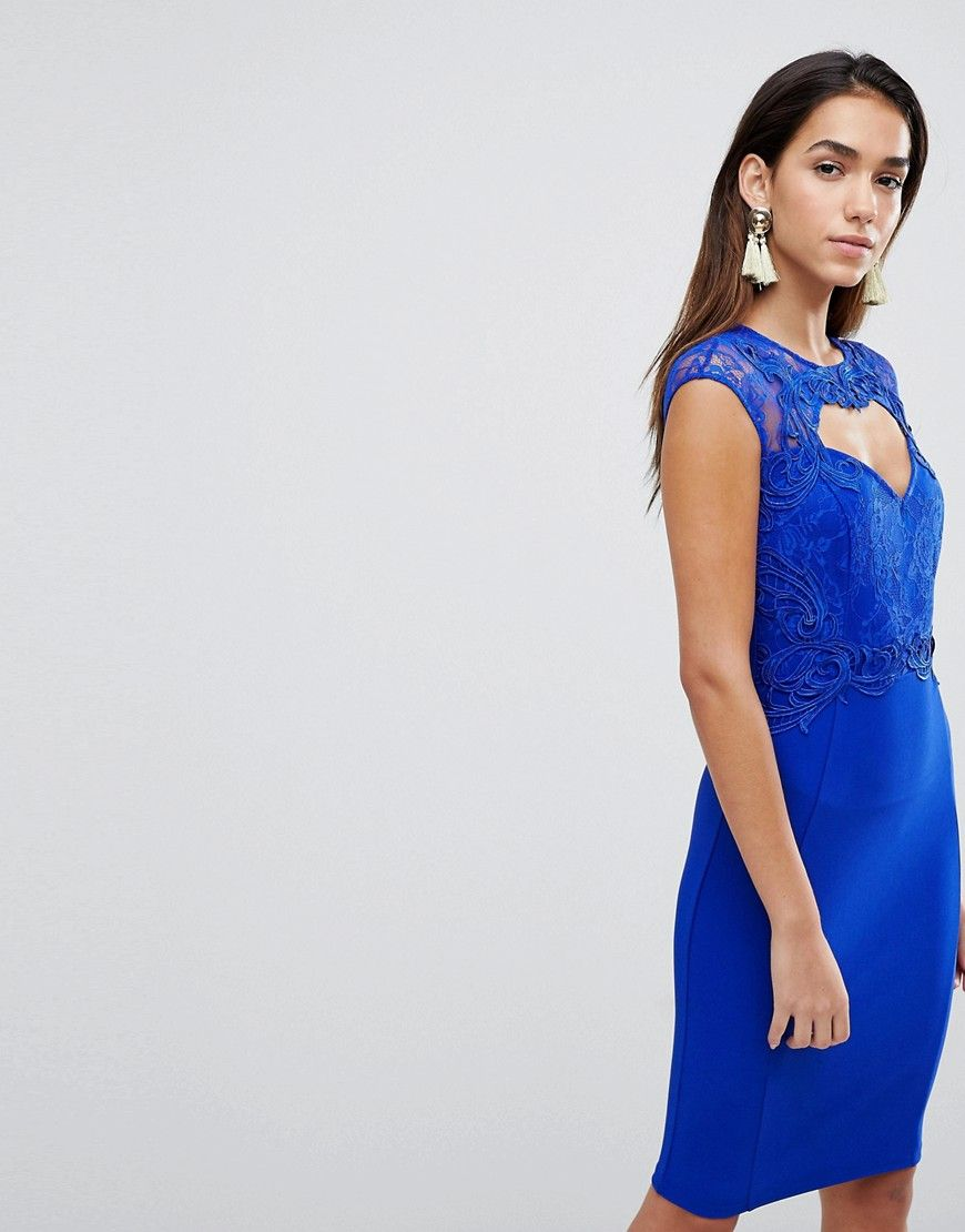 Lipsy sweetheart bodycon dress with lace trim products pinterest